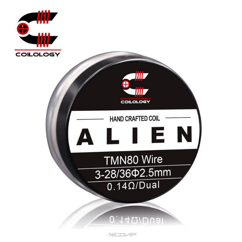 Pack 2 Coils Handmade Twisted Messes NI80 TMN80 Alien 0.14 ohm