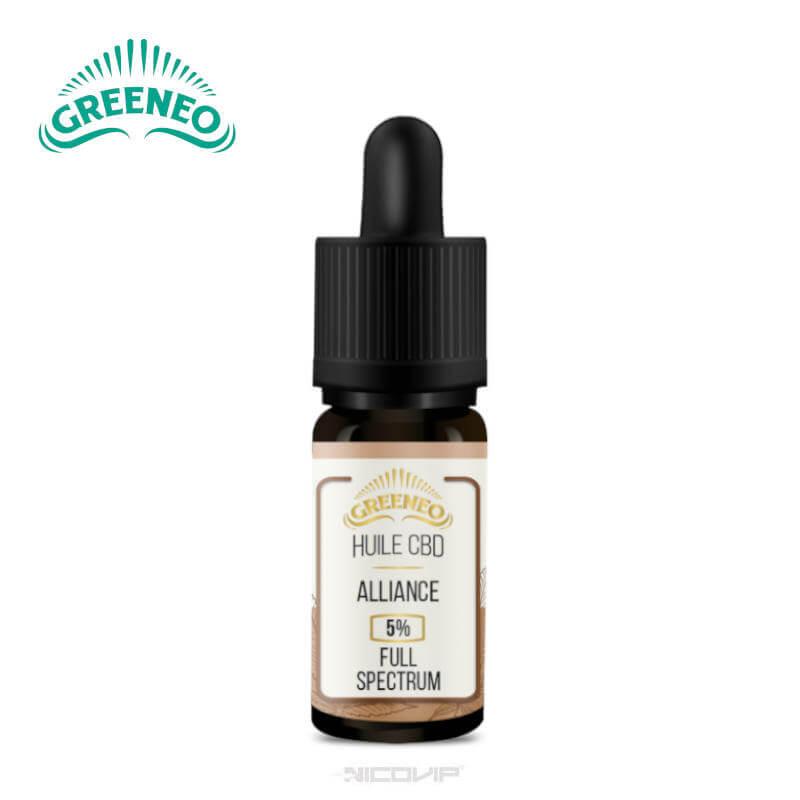 Alliance huile CBD Greeneo 10ml