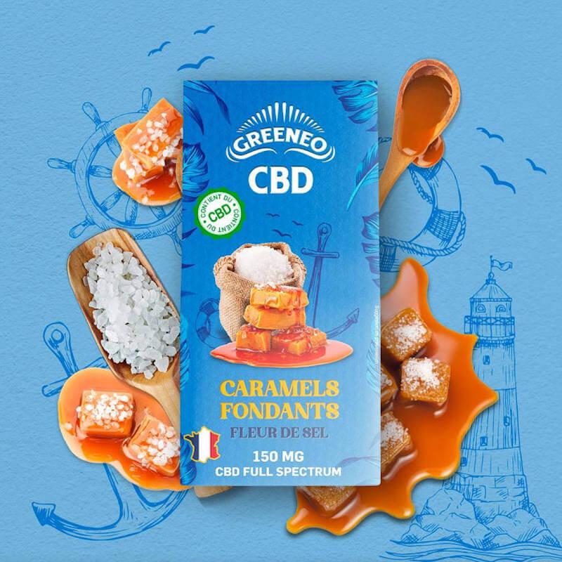 Caramels Fondants CBD (fleur de sel) Greeneo