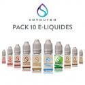 Pack 10 E-liquides Savourea