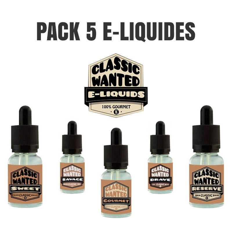 Pack 5 E-liquides Classic Wanted