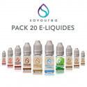 Pack 20 E-liquides Savourea