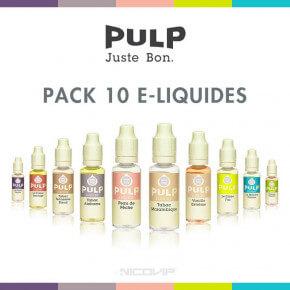 Pack 10 E-liquides Pulp