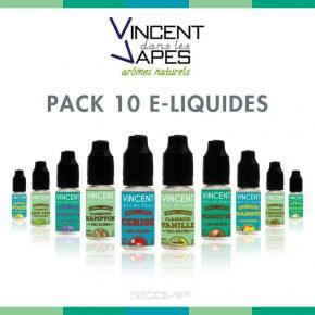 Pack 10 E-liquides VDLV