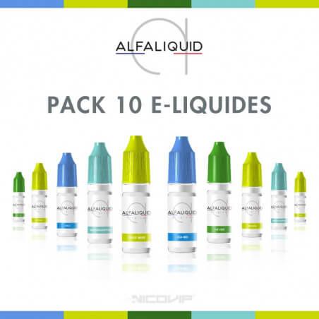 Pack 10 E-liquides Alfaliquid
