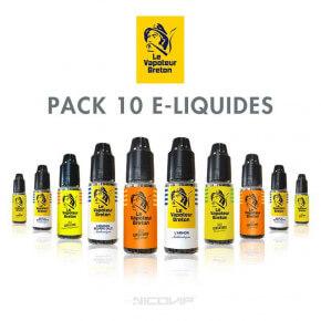 Pack 10 E-liquides Le Vapoteur Breton