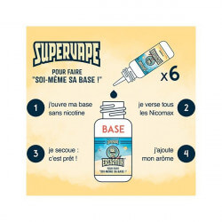 Pack Basebooster 50/50 SuperVape 200 ml