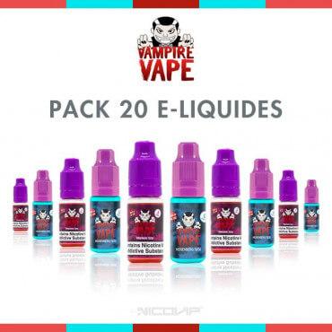 Pack 20 E-liquides Vampire Vape