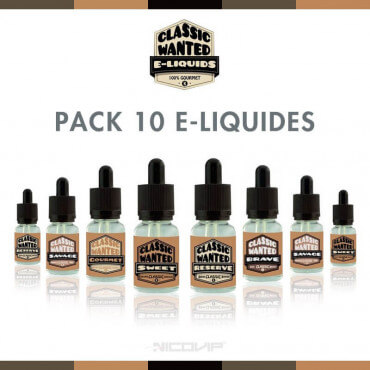 Pack 10 E-liquides Classic Wanted
