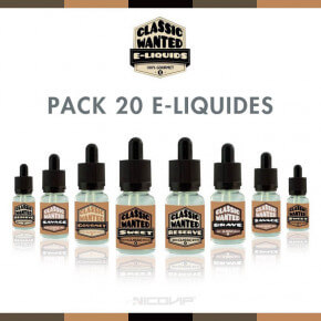 Pack 20 E-liquides Classic Wanted