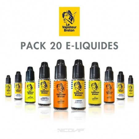 Pack 20 E-liquides Le Vapoteur Breton