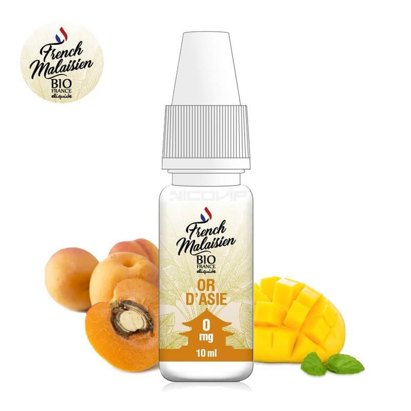 E-liquide bio Or d'Asie French Malaisien
