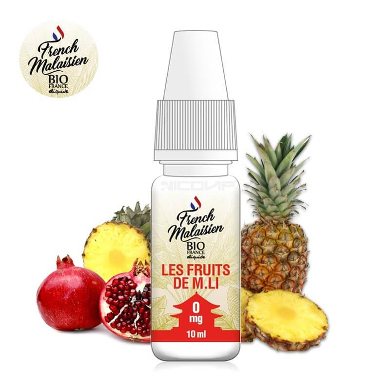 E-liquide bio Les Fruits de M. Li French Malaisien