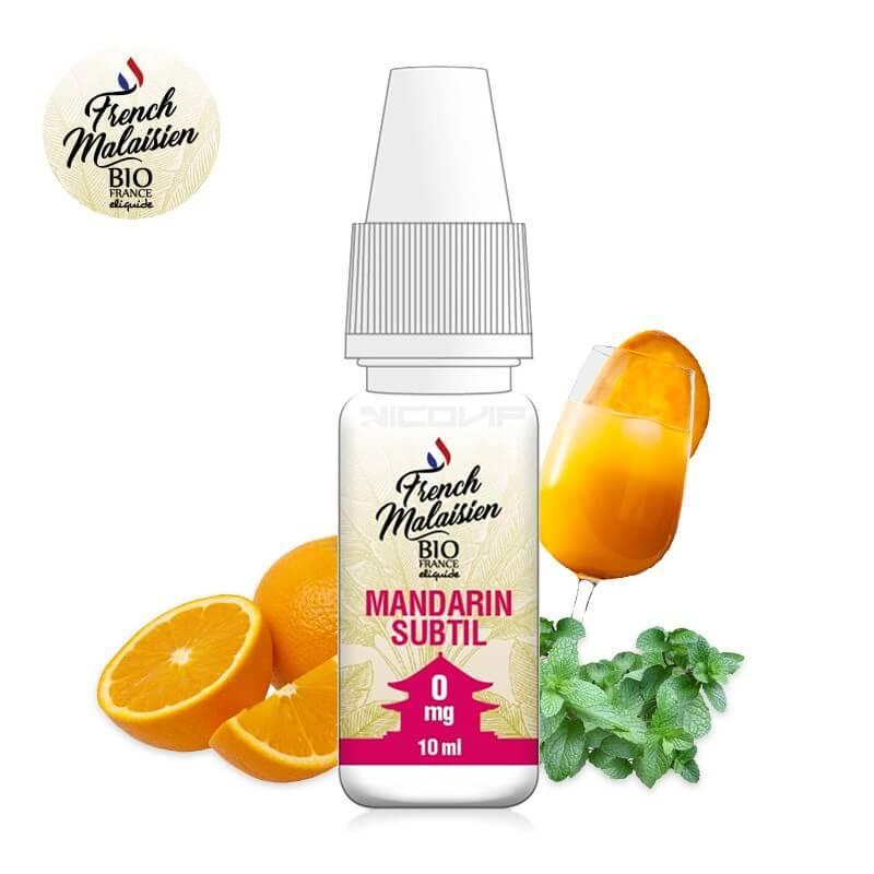 E-liquide bio Mandarin Subtil French Malaisien