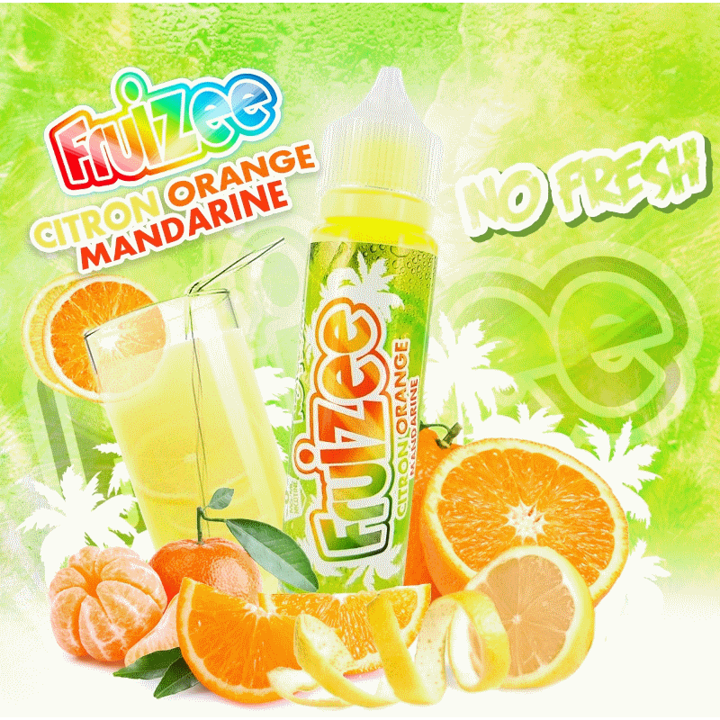 Citron Orange Mandarine No Fresh King Size Fruizee