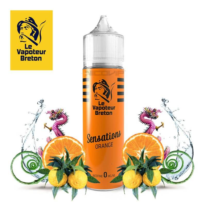 Sensations Orange Le Vapoteur Breton 50 ml