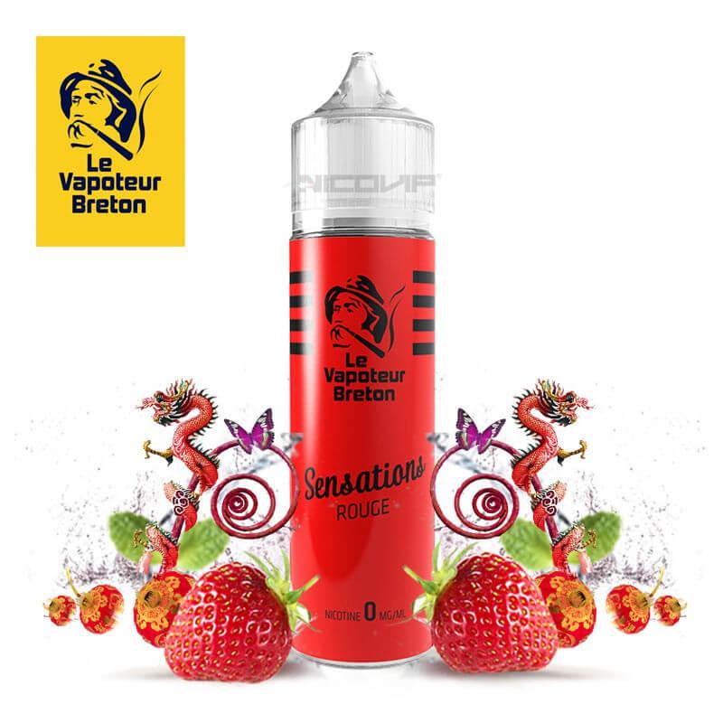 Sensations Rouge Le Vapoteur Breton 50 ml