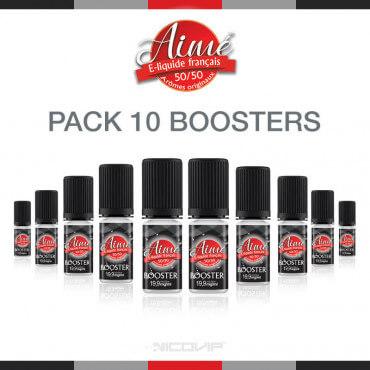 Pack 10 boosters de nicotine Aimé 50/50