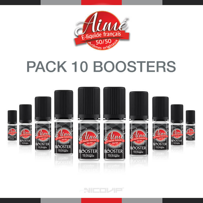 Pack 10 boosters de nicotine Aimé 50/50