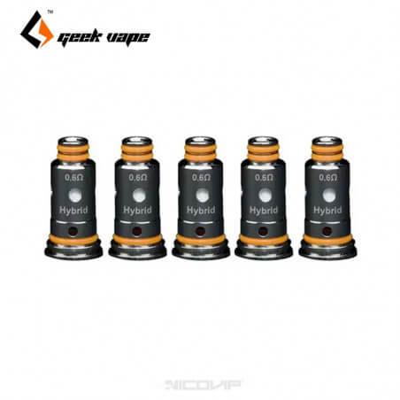 Pack 5 résistances Gcoil Mesh Geek Vape