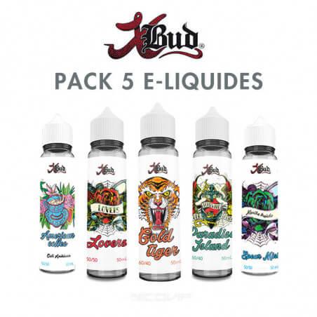Pack e-liquides XBud 50 ml
