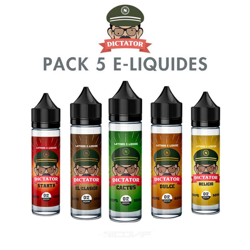 Pack e-liquides Dictator 50 ml