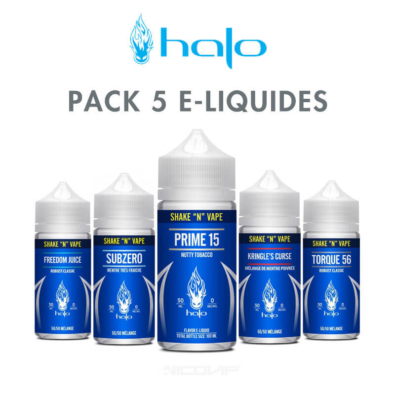 Pack e-liquides Halo 50 ml