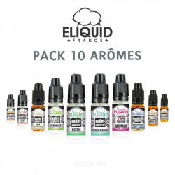 Pack arômes Eliquid France 10 ml