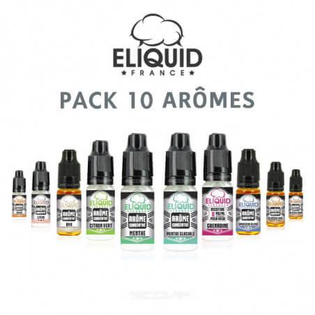 Pack arômes Eliquid France 10 ml