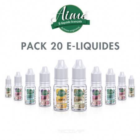 Pack 20 e-liquides Bio Aimé