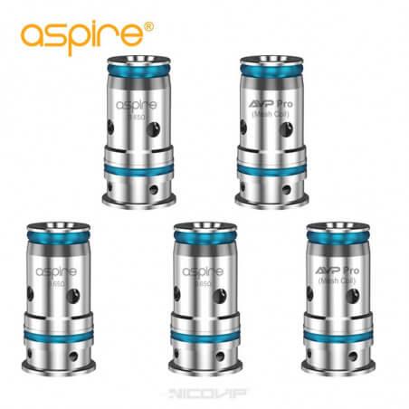 Pack 5 résistances AVP Pro Mesh Aspire
