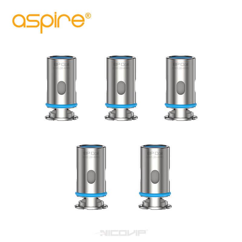 Pack 5 résistances BP Coil Aspire 0,17 et 0,3 ohm