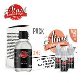 Pack base nicotinée 200 ml 50/50 Aimé 3 mg