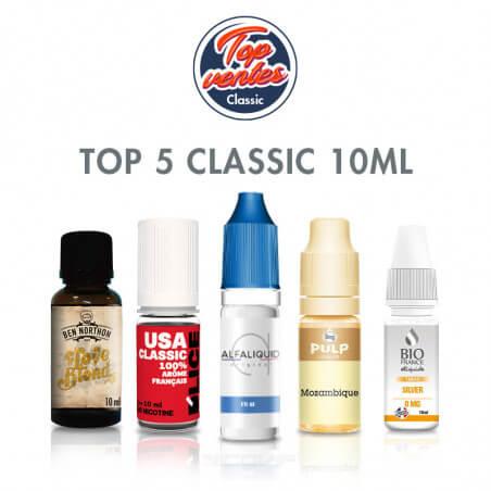 Top 5 e-liquides Classic 10 ml