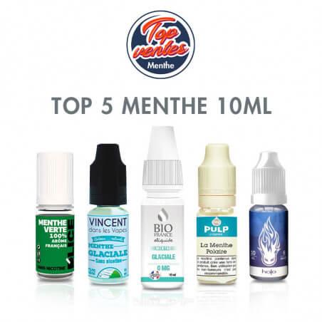 Top 5 e-liquides Menthe 10 ml