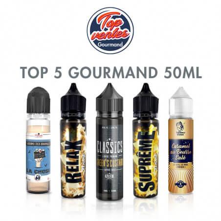 Top 5 e-liquides gourmand 50 ml