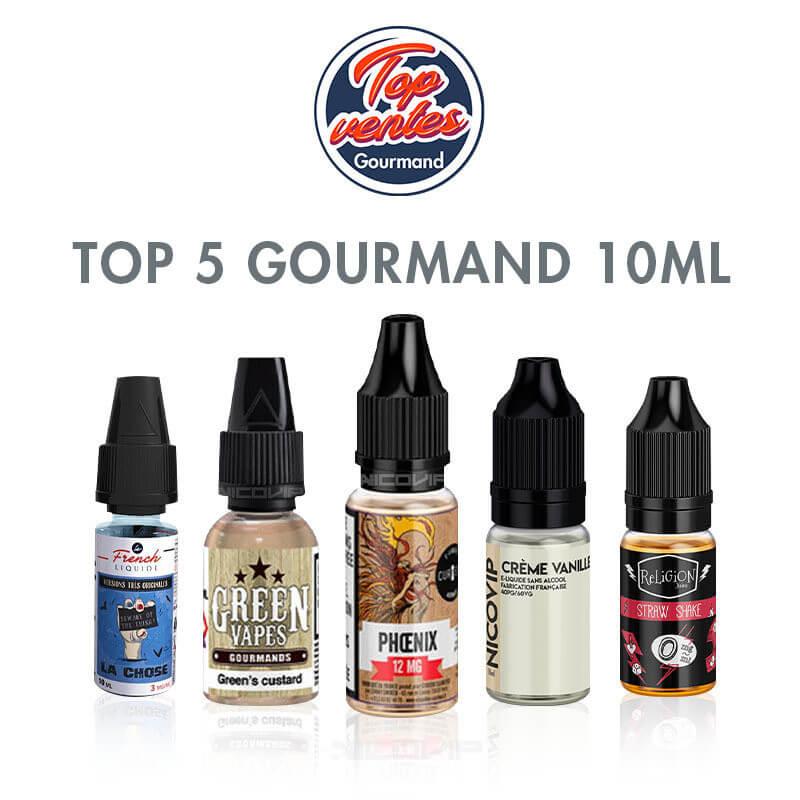 Top 5 e-liquides Gourmands 10 ml