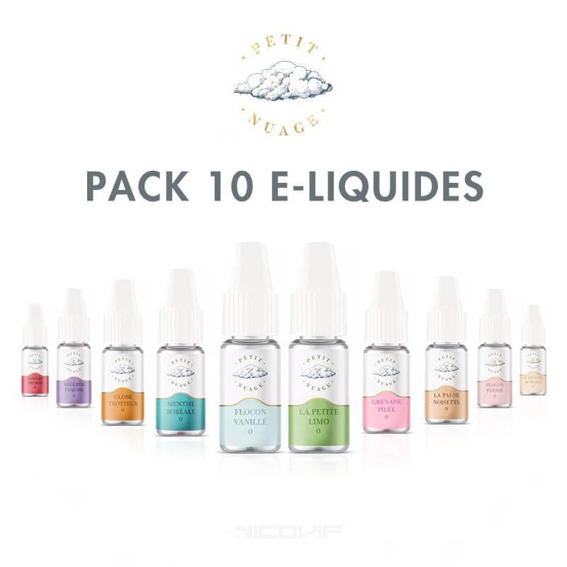 Pack 10 eliquides Petit Nuage