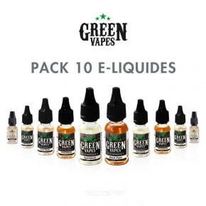 Pack 10 e-liquides Green Vapes