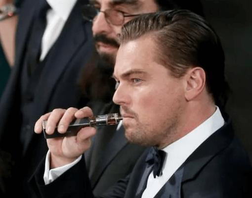 Leonardo DiCaptrio cigarette électronique