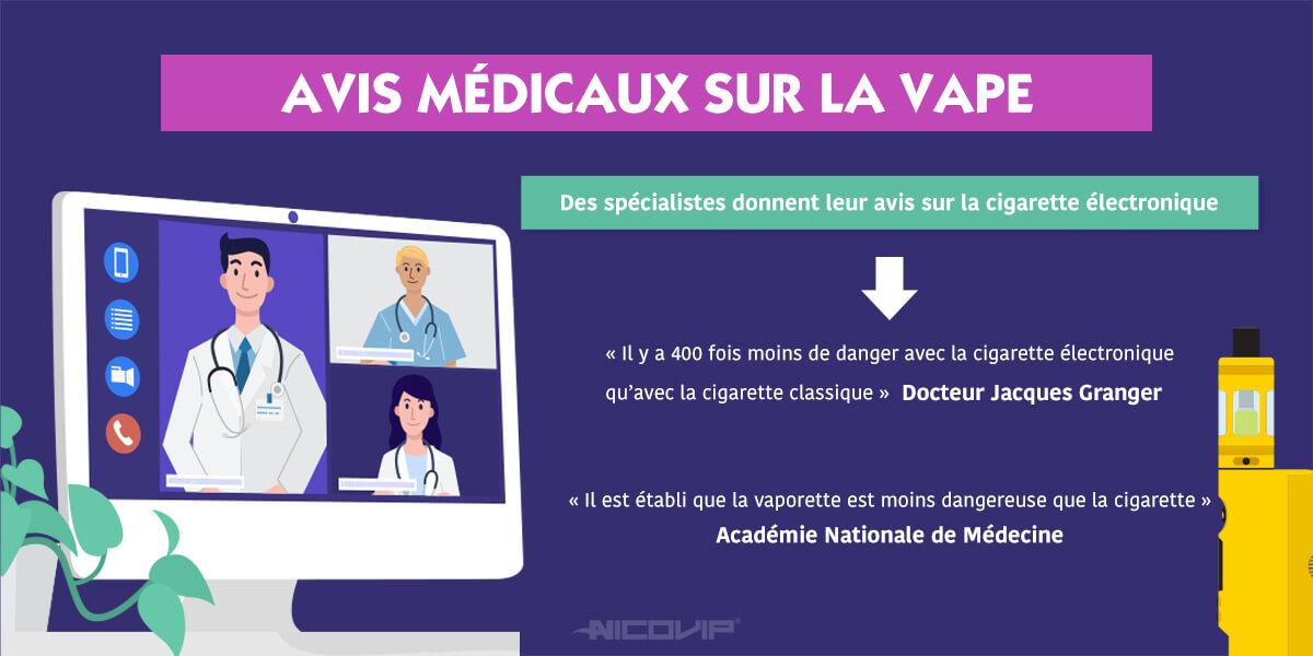 Avis médical sur la cigarette électronique : la parole des spécialistes