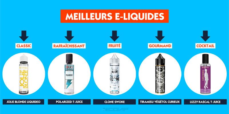 Classement meilleurs e-liquides 2020