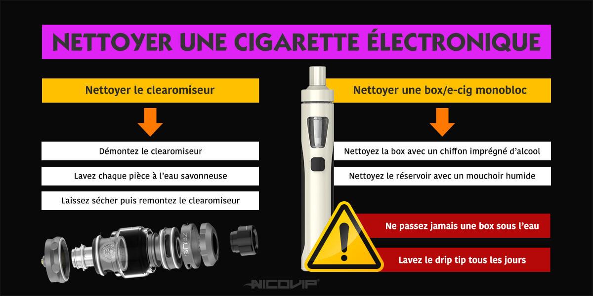 Comment nettoyer ma cigarette électronique ?