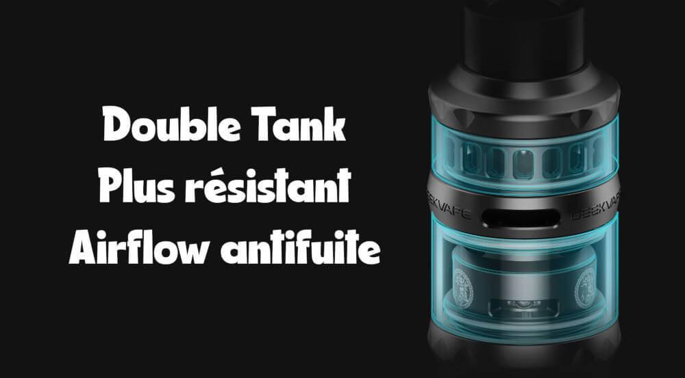 double pyrex Clearomiseur P Sub Ohm Tank Geekvape