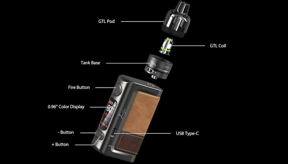Kit iStick Power 2 GTL Tank Eleaf détails