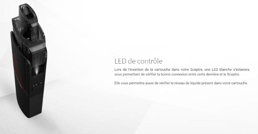 LED de contrôle connexion pod sceptre
