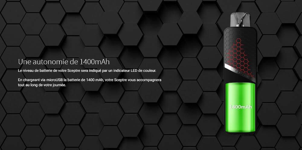 batterie 1400 mAh sceptre innokin