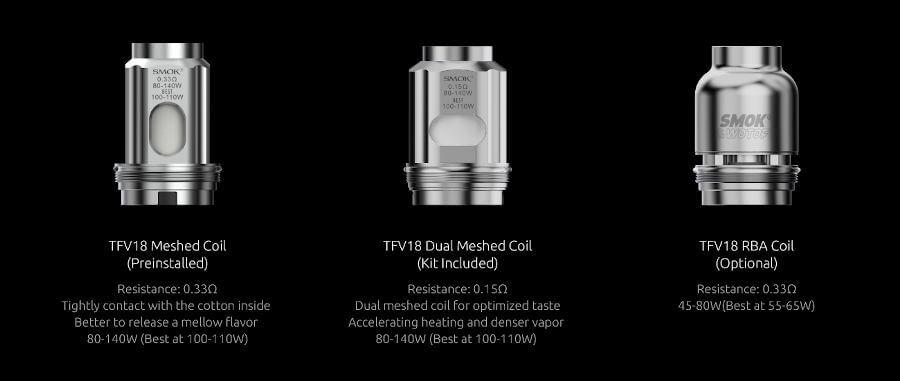 résistances TFV18 Arcfox kit