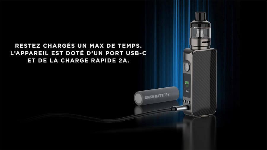 Kit LUXE 80 S - Vaporesso batterie 18650