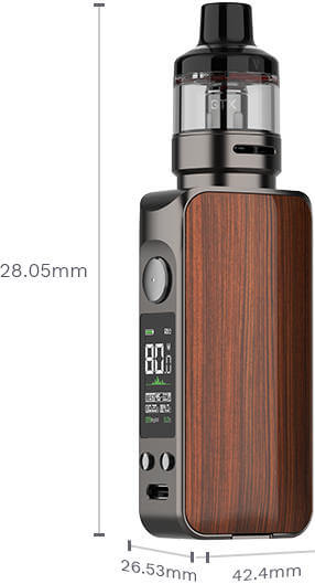 Kit LUXE 80 S Vaporesso dimensions